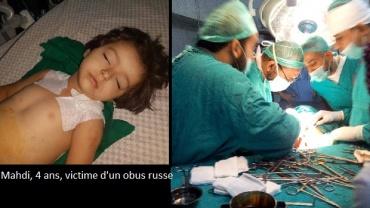 Mahdia 4 ans, opérée en urgence dans un hôpital en Syrie